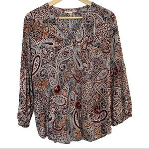 Grand & Greene paisley button up blouse